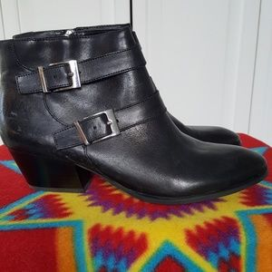 Franko Sarto Black Leather Booties